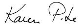 La signature de Karen Pitre