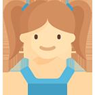 Illustration d'une fillette en bas âge.