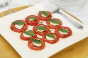 Layered Tomato, Basil and Bocconcini
