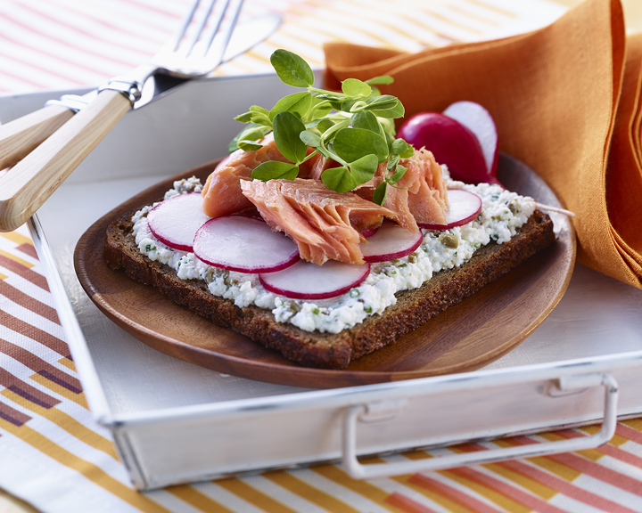 Smoked Trout, Radish and Sprout SmØrrebrØd