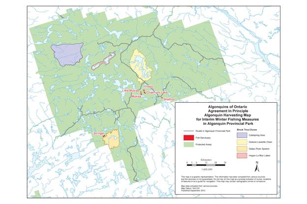 Algonquin Land Claim Harvesting Maps   Ontario.ca on