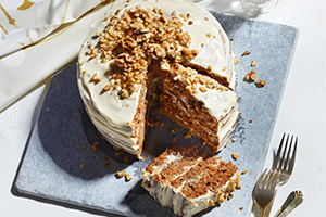 Maple, Apple and Carrot Layered Cake