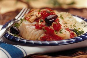 Poisson à la méditerranéenne, cuit au four