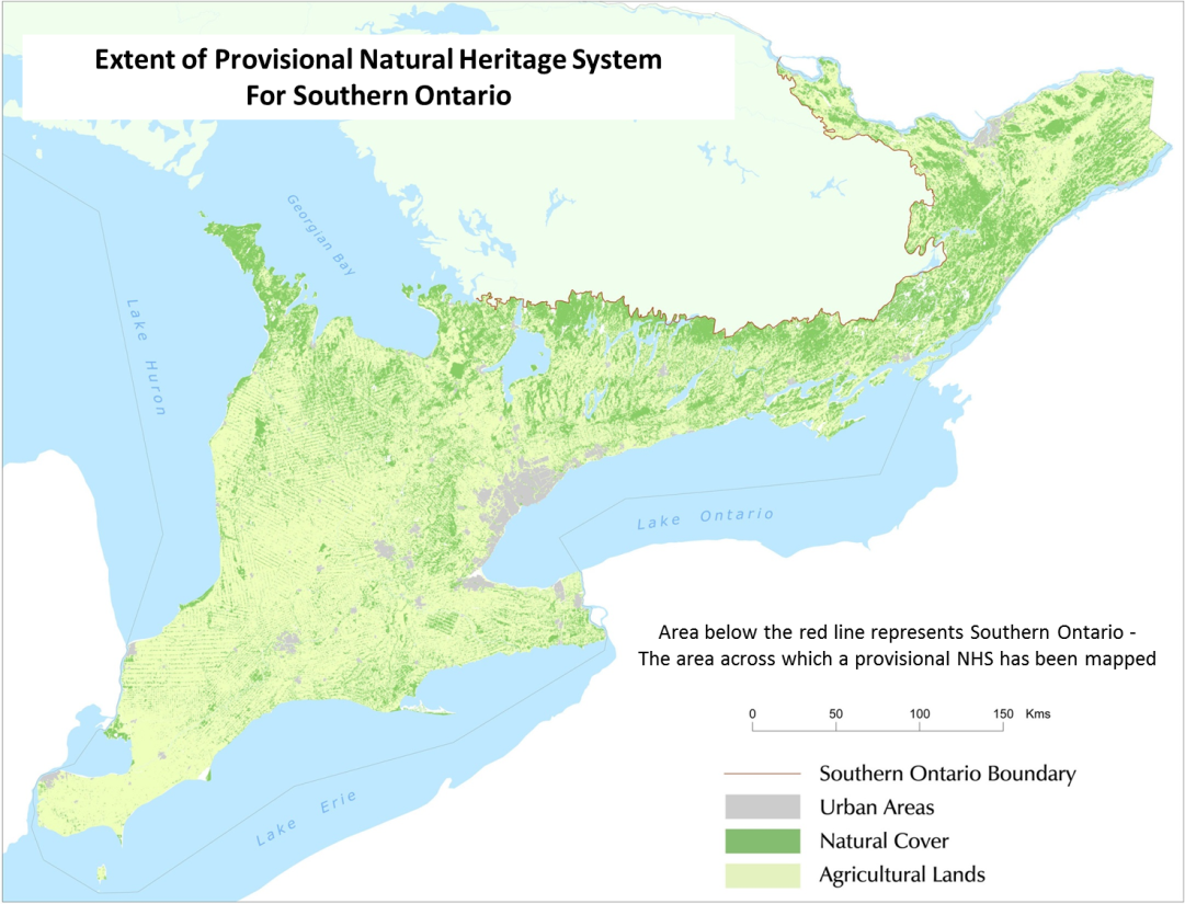 Figure 1: Extent of mapped Provisional NHS for Southern Ontario
