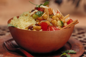 Moroccan Chickpeas and Couscous
