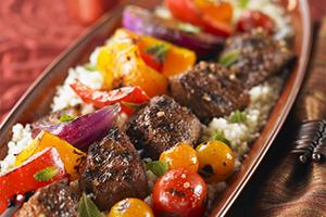 Moroccan Lamb and Vegetable Kabobs