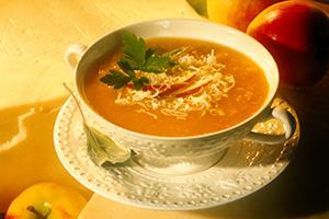 Soupe au cheddar et aux pommes