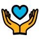 Deux mains tenant un coeur