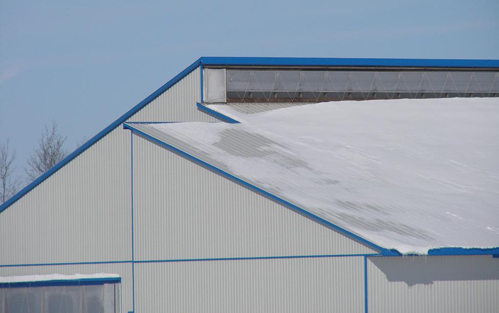 overshot dairy barn roof