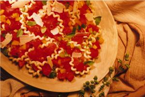 Pasta with Fresh Garden Tomato Sauce