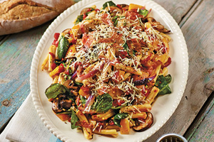 Pasta and Vegetables with Prosciutto