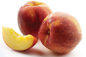 Rum-Glazed Peaches with Almonds