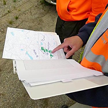 Viewing a forest operations map