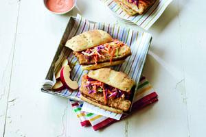 Pickerel and Slaw Sandwich