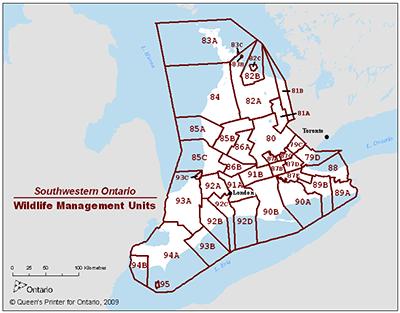 Find A Wildlife Management Unit Wmu Map Ontario Ca