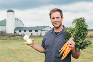 Photo of an Ontario farmer