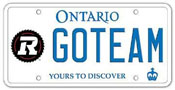 Illustration of Licence Plate – Ottawa REDBLACKS