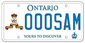 Illustration of Licence Plate - The Royal Canadian Regiment