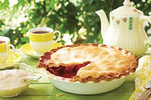 Plum Pie with Maple Crème Fraîche