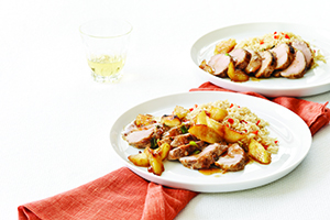 Pork Tenderloin with Glazed Apples