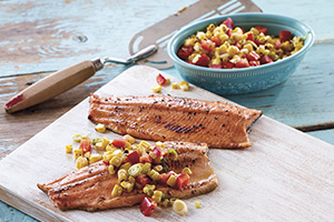 Rainbow Trout with Smoky Corn Salsa