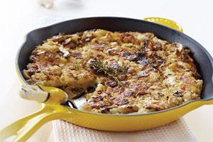 Crispy Potato, Onion, And Mushroom Rosti