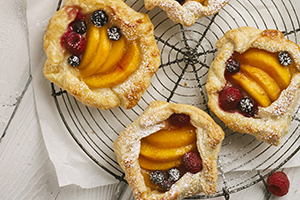 Rustic Peach and Berry Tarts