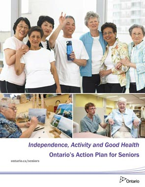 Poster: Independence, activity and good health - Ontarios Action Plan for Seniors