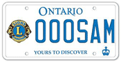 Illustration of Licence Plate - Lions Club International