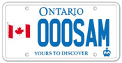 Illustration of Licence Plate - Canadian Flag