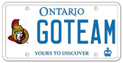 Illustration of Licence Plate - Ottawa Senators