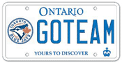 Illustration of Licence Plate - Toronot Blue Jays
