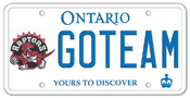 Illustration of Licence Plate - Toronto Raptors
