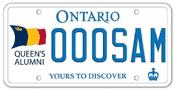 Illustration of Licence Plate - Queen's University