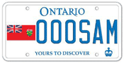 Illustration of Licence Plate - Ontario Flag