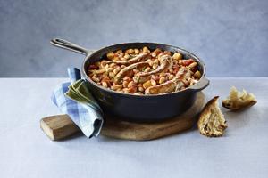 Skillet Sausage Cassoulet