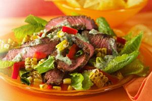 Southwest Caesar Salad with Grilled Steak