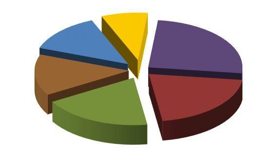Pie chart - breakdown by category