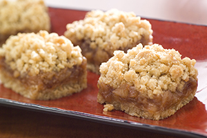 Spiced Apple 'n' Oat Squares