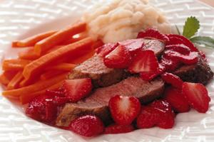 Spiced Pork Tenderloin with Ginger Strawberry Sauce
