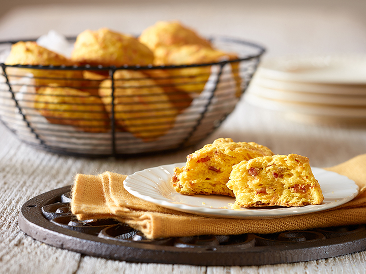 Squash, Cheddar and Chorizo Biscuits