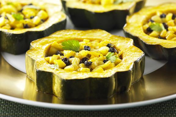 Rondelles de Courge aux Pommes et Beurre de Curry