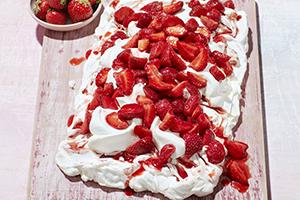 Strawberry Swirl Meringue