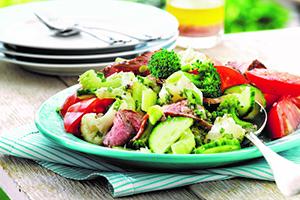 Salade estivale au boeuf