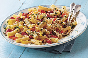 Greenhouse Tomato and Pepper Pasta