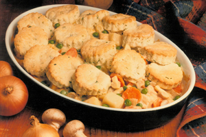 Turkey Pot Pie with Tea Biscuit Crust