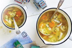 Soupe au dindon et pâtes