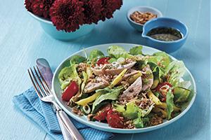 Turkey Bulgur Salad with Cherry Tomatoes
