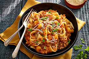 Veal Bolognese with Vegetables
