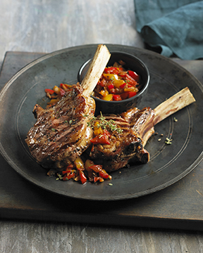 Grilled Veal Chops with Pepper Sauce